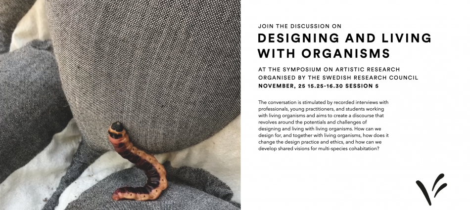 """Designing and Living with Organisms"" at the Symposium on Artistic Research with the title ""Working Together"""